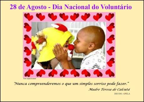 28/08 - Dia Nacional do Voluntariado