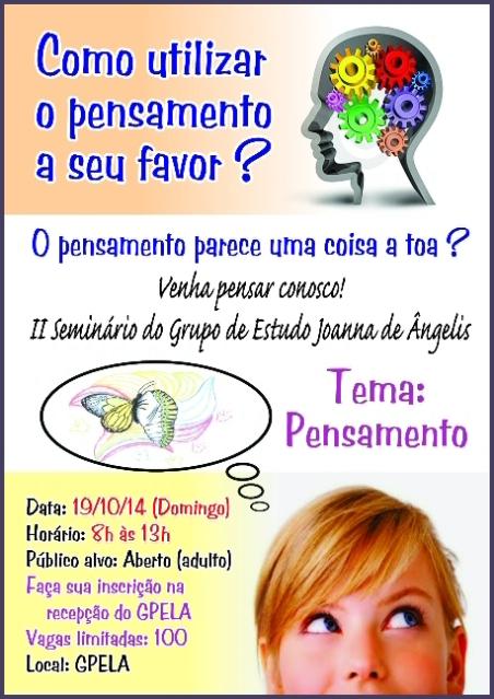 29/10 - Seminário do Grupo de Estudo Joanna de Ângelis
