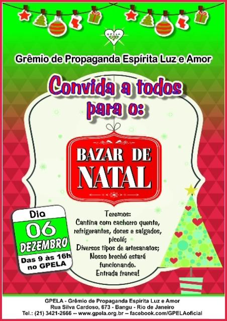 06/12 - BAZAR DE NATAL