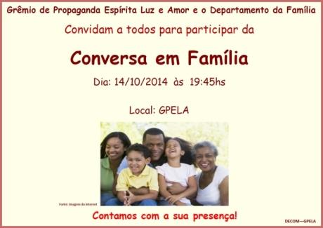 14/10 - Conversa em Família