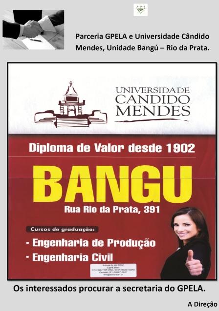 Parceria Gpela e Universidade Cândido Mendes