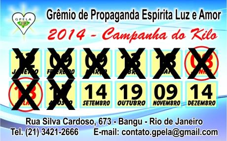 Setembro/14 - Campanha do Quilo