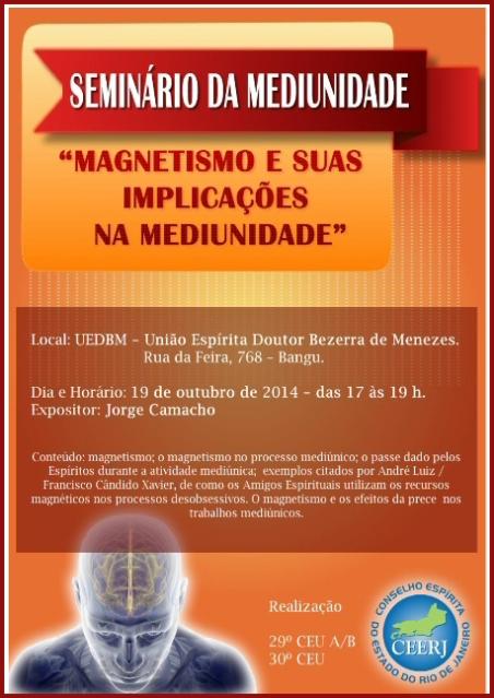19/10 na UEDBM: Seminário da Mediunidade