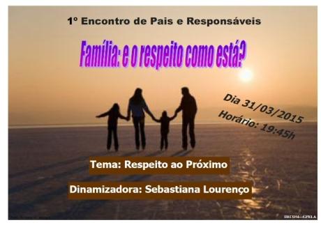 31/03 - 1º Encontro de Pais e Responsáveis