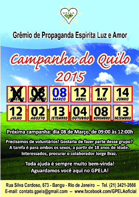 Março/15 - Campanha do Quilo