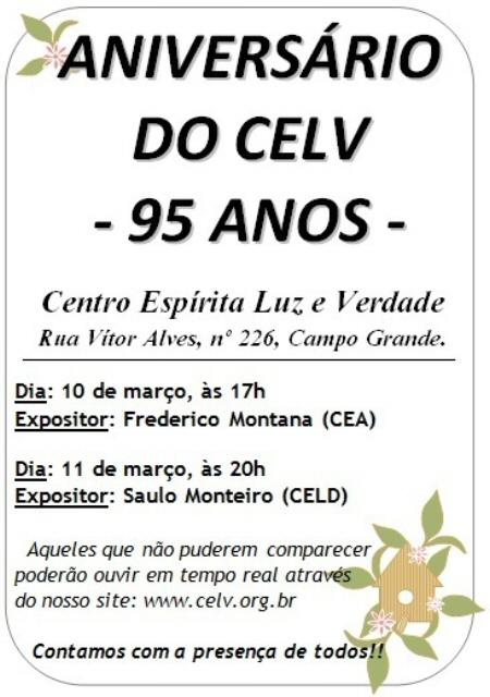 10/03 - Aniversário do CELD