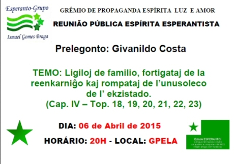 06/04 - Reunião Pública Esperantista