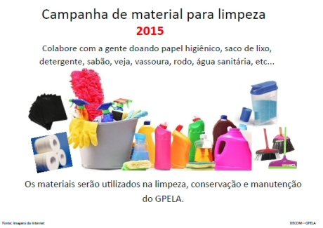 Campanha de Material de Limpeza