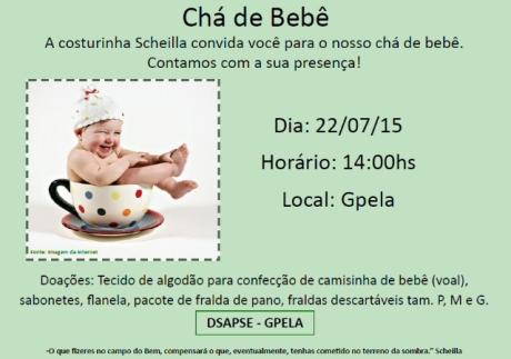 22/07 - Chá de Bebê