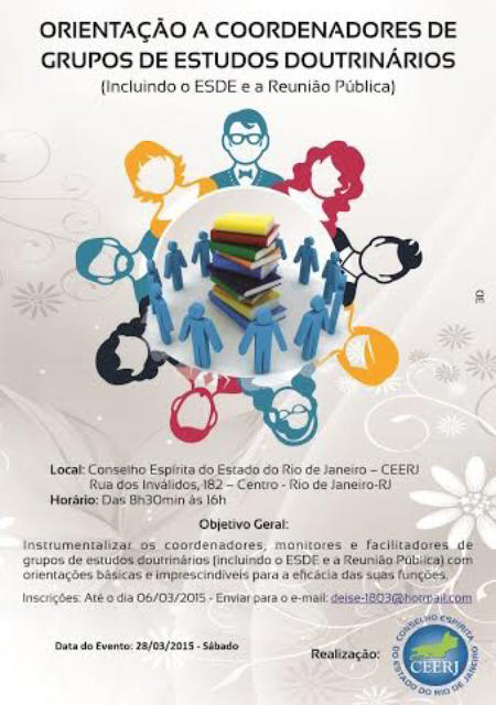 28/03 - Orientação a Coordenadores e Grupos de Estudos Doutrinários