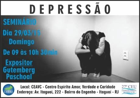 29/03 - Seminário sobre Depressão no CEAV