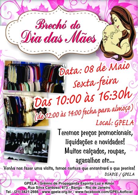 08/05 - Bazar do Dia das Mães