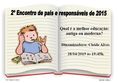 28/04 - 2º Encontro de Pais e Responsáveis