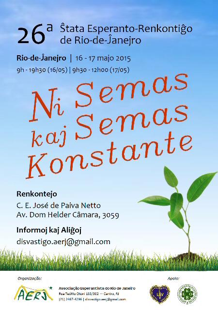 16 e 17/05 - 23º Encontro Estadual de Esperanto