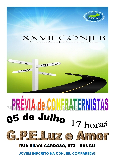 05/07 - Prévia de Confraternistas - CONJEB