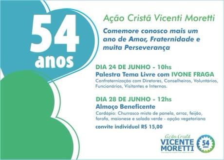 54 anos da Ação Cristã Vicenti Moretti