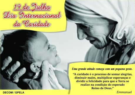 19/07 - Dia Internacional da Caridade