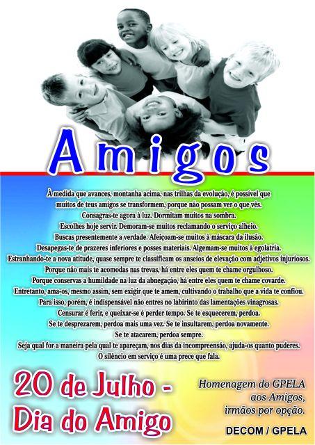 20/07 - Dia do Amigo